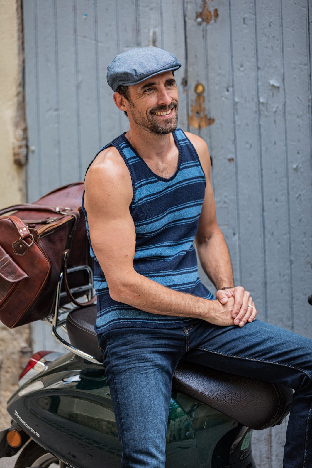 the sailor ALPHA tank top recycled cotton denim l'esprit des forts